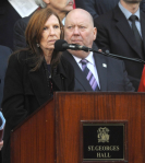 Anne Williams at the Hillsborough Memorial Service at Anfield